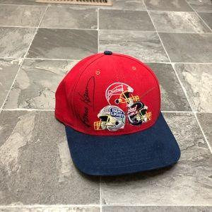 Men's vintage 90s budweiser signed strapback hat